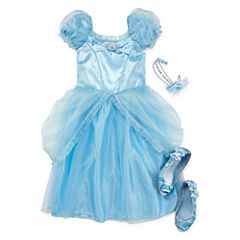 Disney Collection Cinderella Costume, Headband or Shoes – Girls