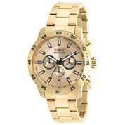 Invicta Specialty Mens Gold Tone Bracelet Watch-21505