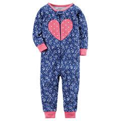 Carter's One Piece Footless Pajama-Baby Girls