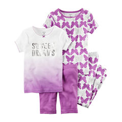 Carter's 4-pc. Kids Pajama Set Girls