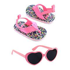 Carter's Girls Flip Flops and Sunglasses Set