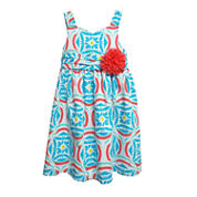 Marmellata Short Sleeve Fitted Sleeve Sundress - Toddler Girls