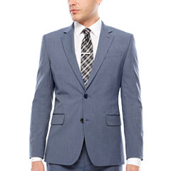 JF J. Ferrar Texture Stretch Light Blue Jacket- Super Slim Fit