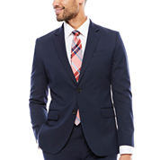 J.Ferrar Stretch Navy Birdseye Suit Jacket-Slim Fit