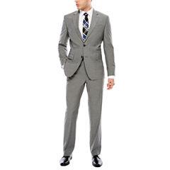 JF J. Ferrar Texture Stretch Gray Suit Separates- Slim Fit