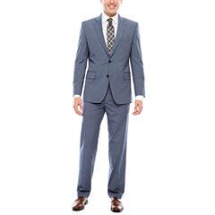 JF J. Ferrar Texture Stretch Light Blue Suit Separates- Classic Fit