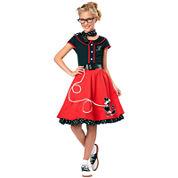 Buyseasons 50s Sweetheart Child Costume 5-pc. Dress Up Costume Girls