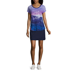 Made for Life™ Short Sleeve Graphic T-Shirt or Solid Woven Skorts