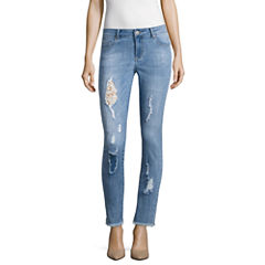 i jeans by Buffalo Destructed Jeans with Lace Insert