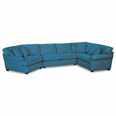 Fabric Possibilities Roll-Arm 3-pc. Right-Arm Corner Sofa Sectional