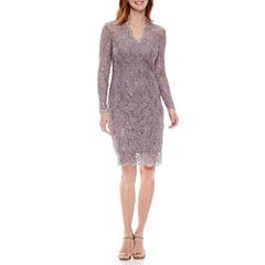Blu Sage Long Sleeve Sheath Dress