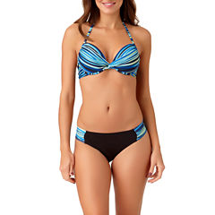 a.n.a® Mix & Match Striped Ombre Push-Up Swim Top or Hipster Swim Bottoms