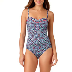 Liz Claiborne Medallion One Piece Swimsuit