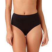 Liz Claiborne Solid High Waist Swimsuit Bottom