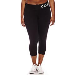 Flirtitude Jersey Workout Capris Juniors Plus