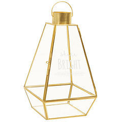 "Cathy's Concepts ""Shine Bright"" Gold Metal Lantern"