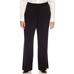 Liz Claiborne Woven Curvy Pants-Plus