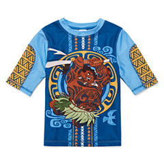 Disney Boys Moana Solid Rash Guard-Big Kid