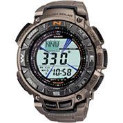 Casio® Pro Trek Mens Triple Sensor Multifunction Titanium Watch PAG240T-7CR