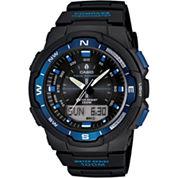 Casio® Mens Twin Sensor Black & Blue Watch SGW500H-2BV