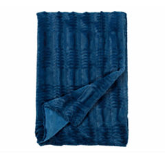 Cathay Home Asubry Embossed Faux Fur Throw