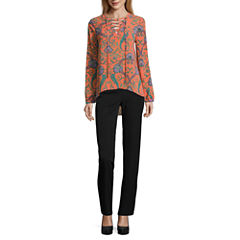 Nicole by Nicole Miller Lace Up Top or Skinny Ankle Pants