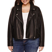Boutique + Motorcycle Jacket-Plus