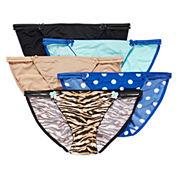 Flirtitude® 5-pk. Microfiber Bikini Panties