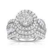 Harmony Eternally in Love 2 CT. T.W. Diamond 10K White Gold Bridal Set