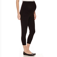 Maternity Cropped Leggings- Plus