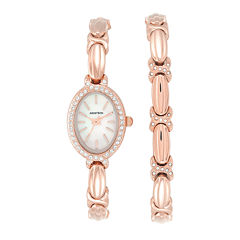 Armitron Now Crystal Accent Womens Rose Goldtone 2-pc. Watch Boxed Set-75/5395mprgst