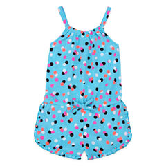 Okie Dokie® Sleeveless Ruffle-Hem Romper - Toddler Girls 2t-5t