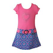 Lilt Short Sleeve Drop Waist Dress - Toddler