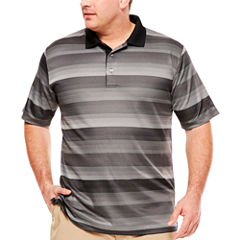PGA TOUR Short Sleeve Jacquard Polo- Big & Tall