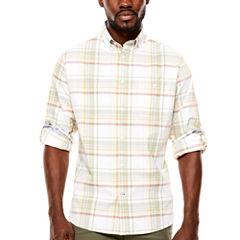 ARGYLECULTURE Roll Sleeve Button-Front Shirt