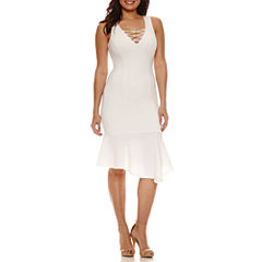 Bisou Bisou Lace Up Dress