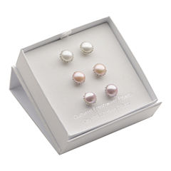 Cultured Freshwater Pearl 3-pr. Stud Earring Set