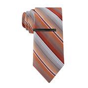 Van Heusen® Slim Patterson Stripe Tie and Tie Bar Set