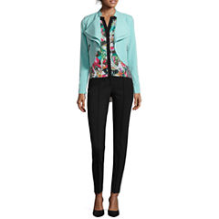 nicole by Nicole Miller® Draped Jacket, High-Low Tank Top or Pintucked Ankle Pants