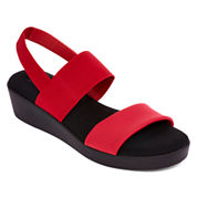 St. John's Bay® Swan Two Strap Wedge Sandals