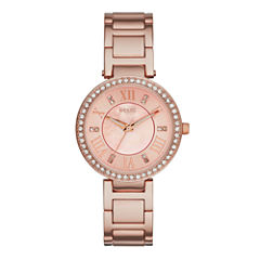 Relic® Isabelle Womens Crystal-Accent Rose-Tone Bracelet Watch ZR34308