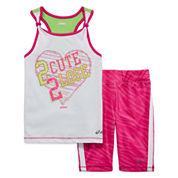 Asics® Tank Top and Shorts Set - Preschool Girls 4-6x