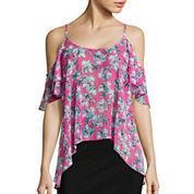 I 'Heart' Ronson® Floral Cold-Shoulder Top