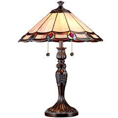 Dale Tiffany™ Aldridge Peacock Table Lamp