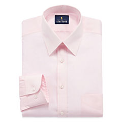 Stafford Comfort Stretch Fitted Long Sleeve Dress Shirt