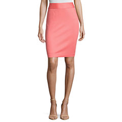 Liz Claiborne Pique Pencil Skirt-Petite