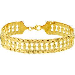 14K Gold Over Silver Cleopatra Bracelet