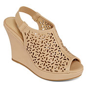 CL by Laundry Maja Cutout Wedge Sandals