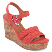 Pop Perth Braided Platform Ankle-Strap Wedges
