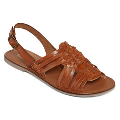 a.n.a® Akina Woven Sling Flat Sandals